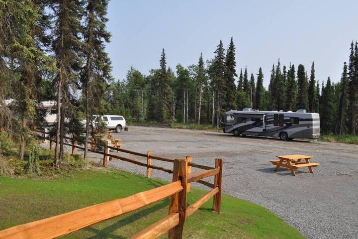 Alaskan Kenai Fishing RV spot # 2   full hookups