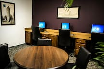Business Center with copying, scanning, and fax. Building-wide wi-fi access