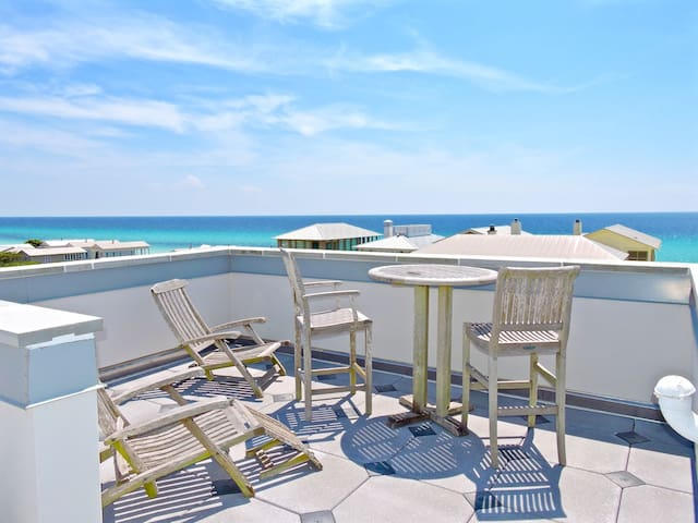 Across From Beach, Rooftop 360 Gulf Views-Coastal Holiday 20% Savings