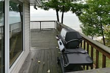 Deck with BBQ that is available for use