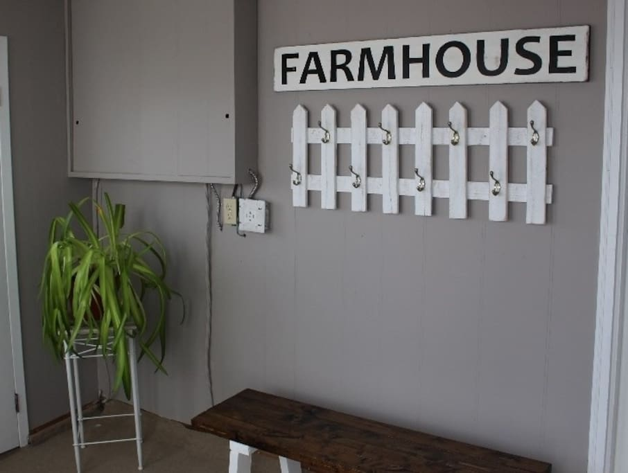 Welcome to your vintage farmhouse experience.