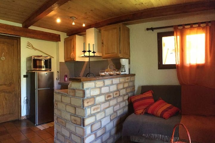 Charmant T2 rez de jardin d'un chalet - Allos - Appartement