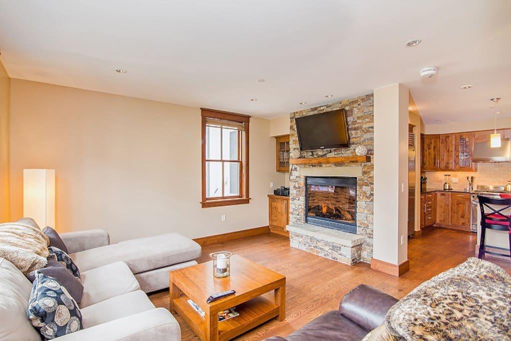 Living Area - High Definition Flat Screen TV - Gas Fireplace