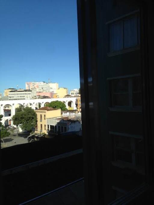 Vista dos Arcos da Lapa, da janela do apt