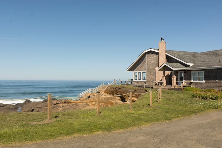 OCEANA: Secluded Ocean Front Home - Yachats - Haus