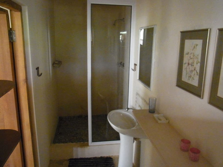 Ensuite half bathroom, shower/toilet