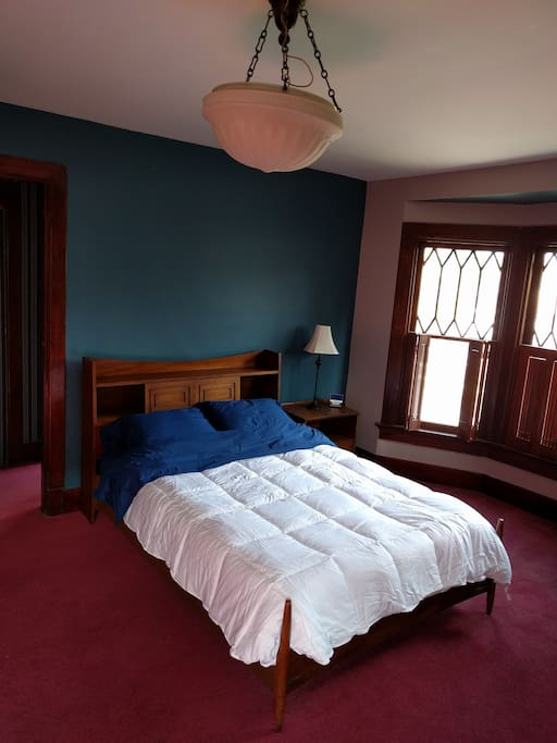 Red room full bed.