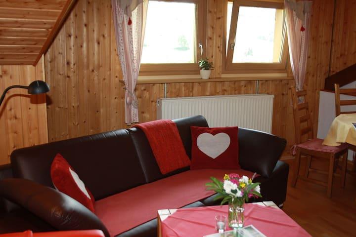 Haus Tannenhof, (Ibach), Ferienwohnung Silberdistel, 55qm, 1 Schlafzimmer, max. 2 Personen