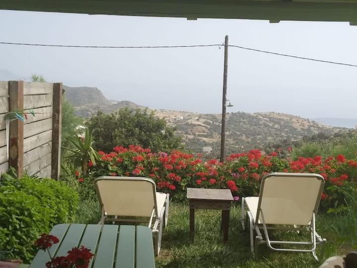 Triopetra Σπίτι με θέα τη θάλασσα