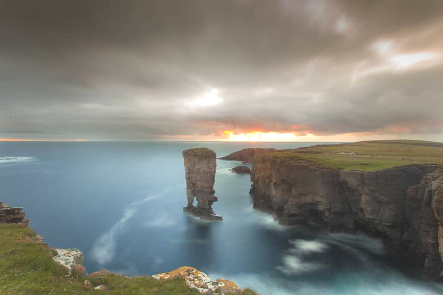 One of the beautiful coastal walks you can take in Orkney