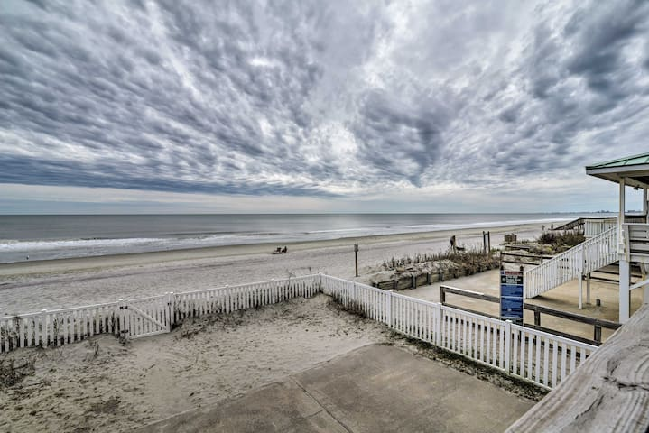 NEW! Oceanfront North Myrtle Beach Duplex w/Deck!