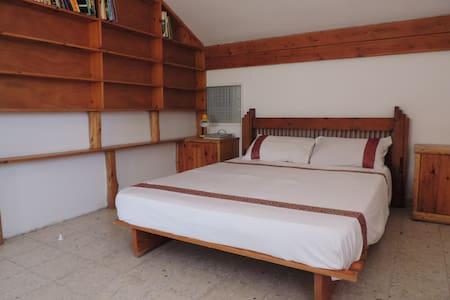 Spacious, pretty en-suite, חדר יפיפה +מקלחת ומרפסת - House