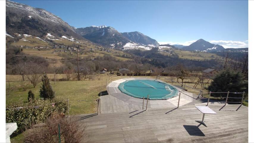 Ferme restaurée avec piscine chauffée et sauna - Saint-Jean-d'Arvey - Vila