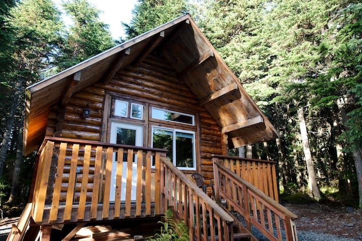 """Alyeska Hideaway Log Cabins """"Glacier Cabin"""""""
