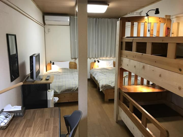 Daigo House Bed in 4-Bed Female Dormitory Room