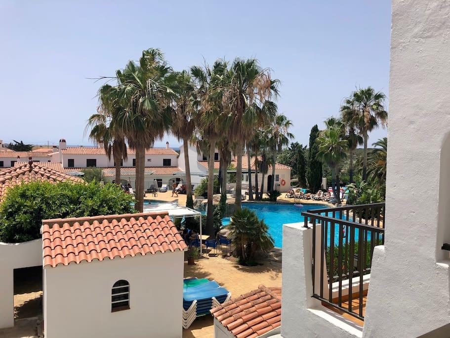 Front balcony overlooking pool