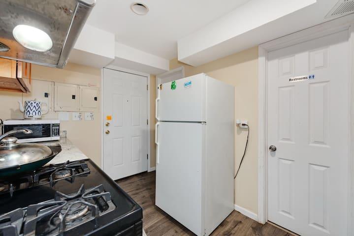 Shared kitchen and 2 shared bathroom