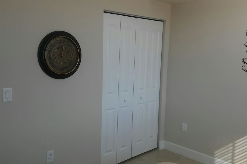 Closet with lots of space