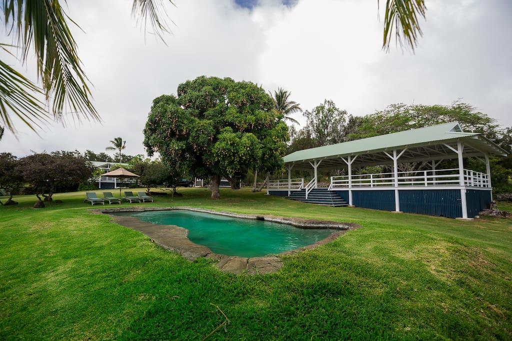 Pool and Pool pavilion.