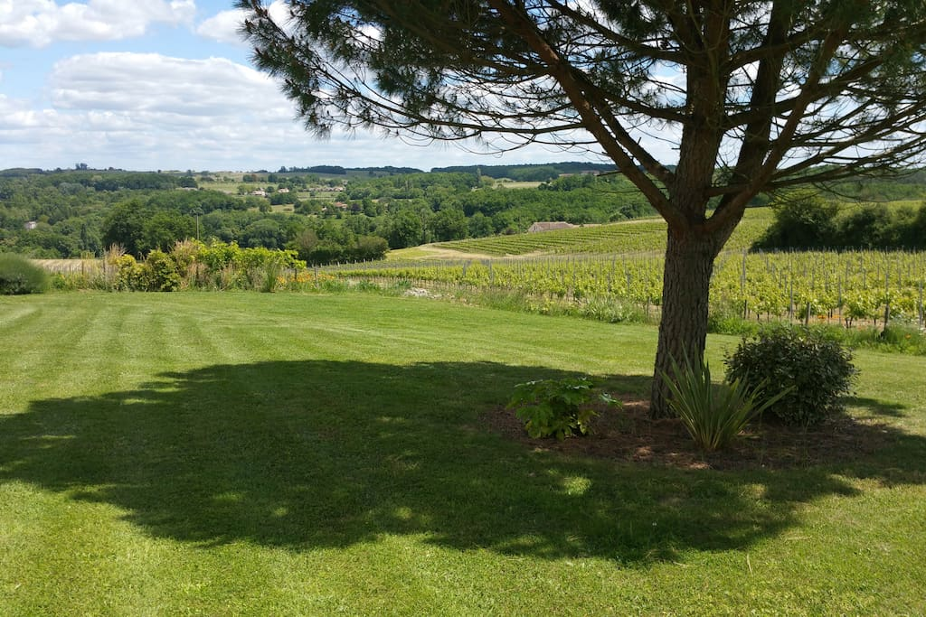 Relax with a glass of wine whilst admiring the views