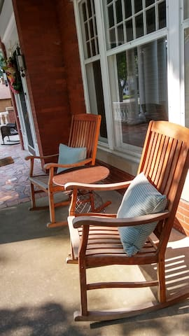Rock away the day on the large front porch
