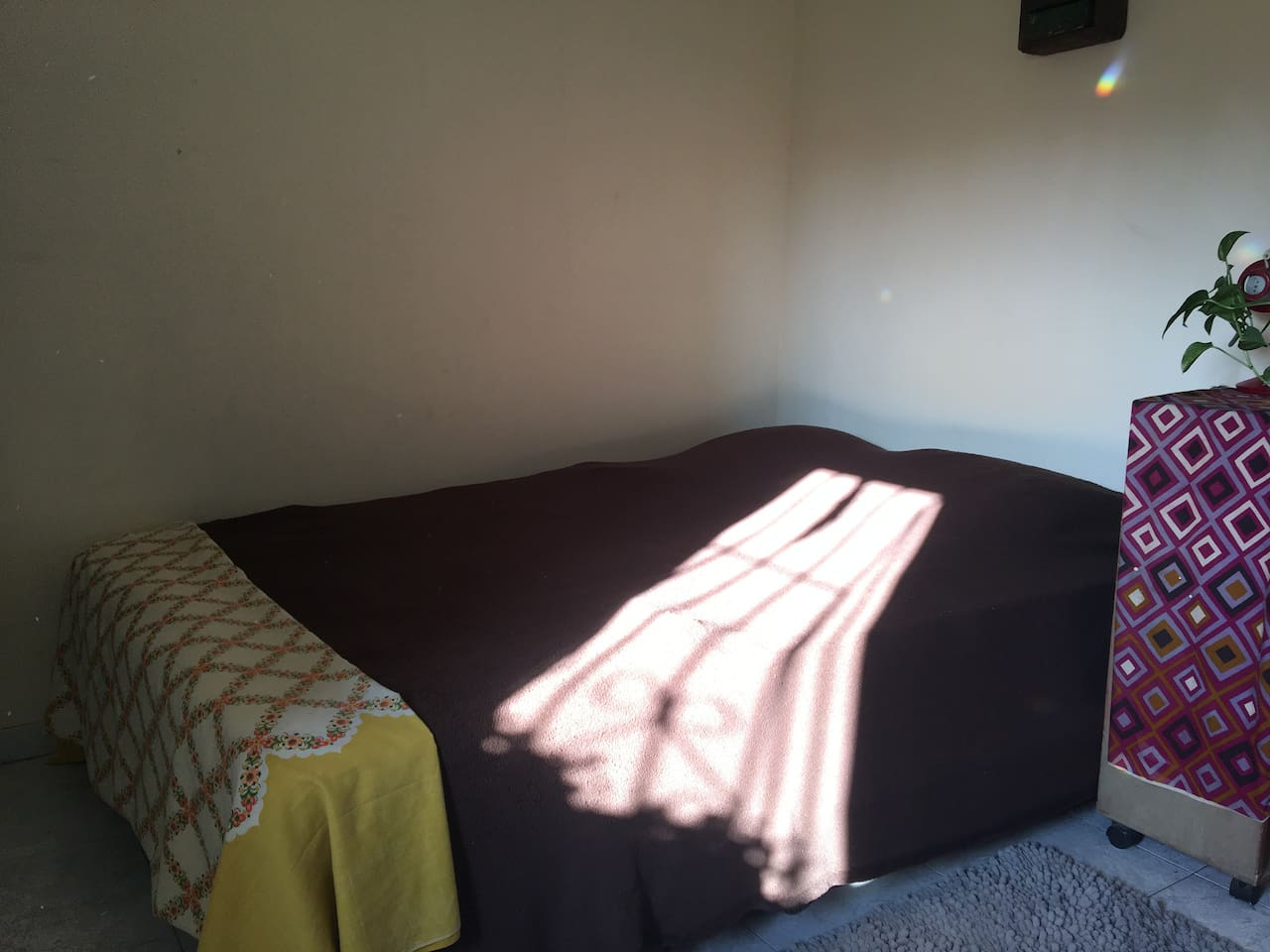 comfortable sunny bed room.