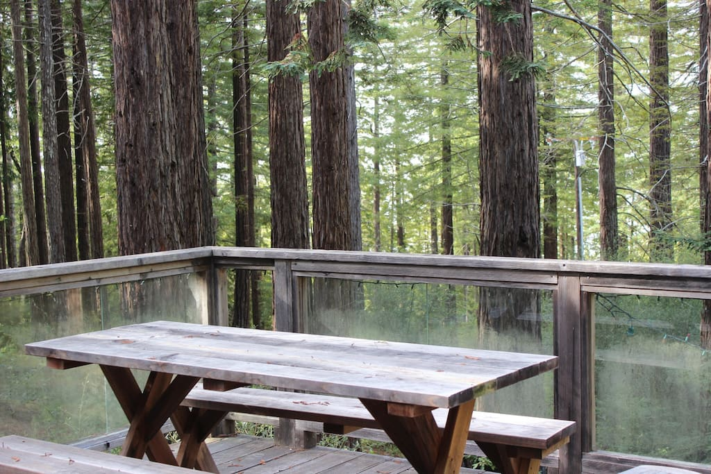Eat lunch on the deck while enjoying some fresh air.