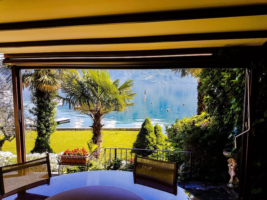 Lake view from private terrace