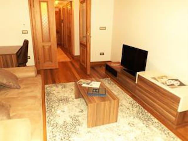 Aslan Residence 1+1 Daire - Flat ( Salon+ balkon  - Living Room with Balcony)
