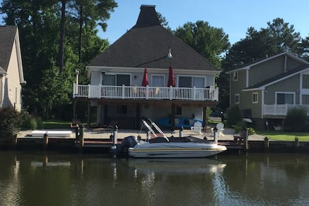 Waterfront~dogs ok~hot tub~sleeps 7 - Ocean Pines