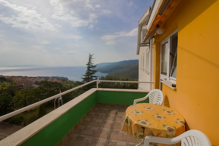 Peaceful 2 persons app with sea view,AC,WiFi - Rabac - Flat