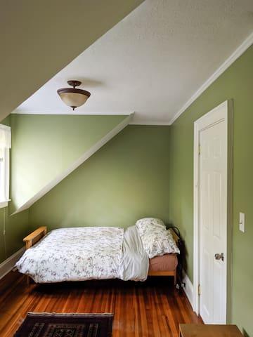 Private attic bedroom in historic, cozy home