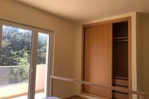 Easy accessible built in cupboards in bedrooms
