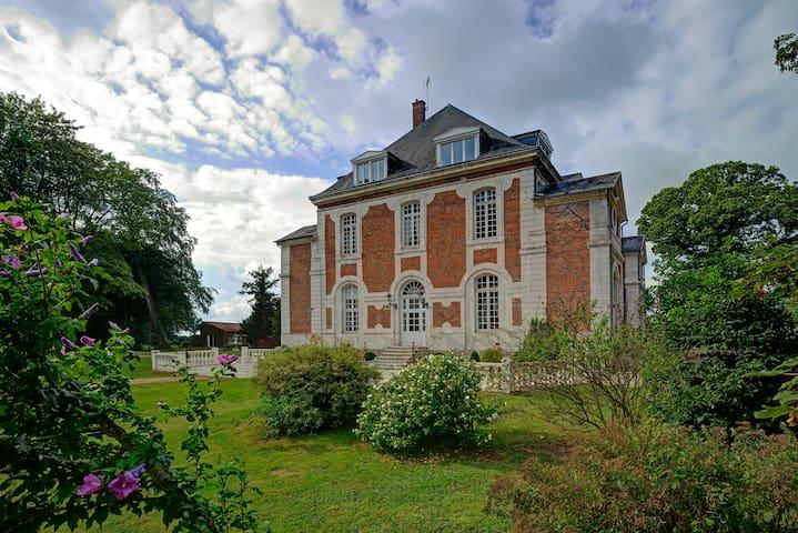 Chambre raffinée dans un château à la campagne - Beuzevillette - Guesthouse