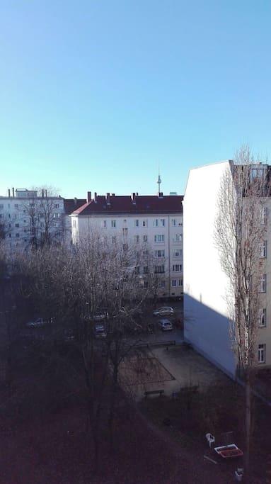Blick auf den Hinterhof