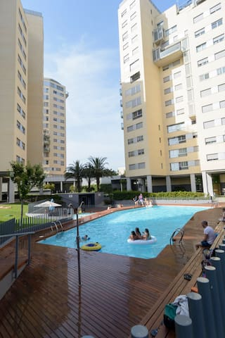 Apartment with swimming pool child-friendly