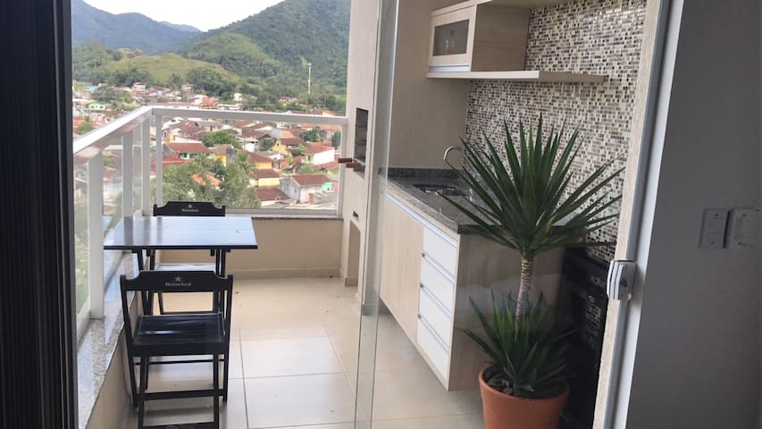 Sacada com Area - Gourmet  BBQ and Balcony