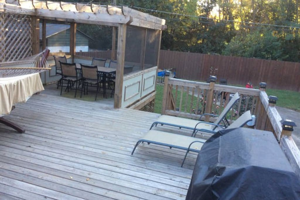 600 sq foot patio with fireplace in back