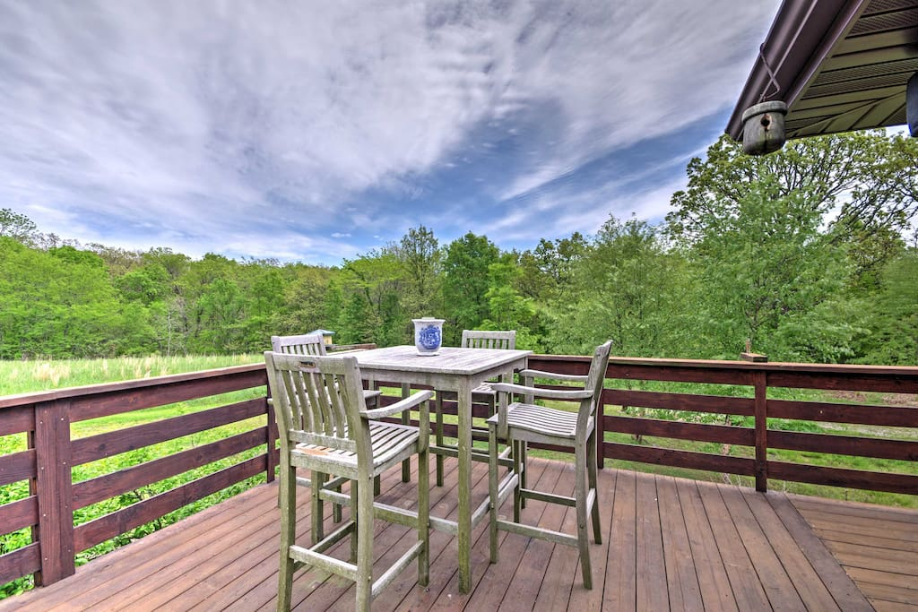 Look forward to fresh air and blue skies while relaxing on the spacious deck.