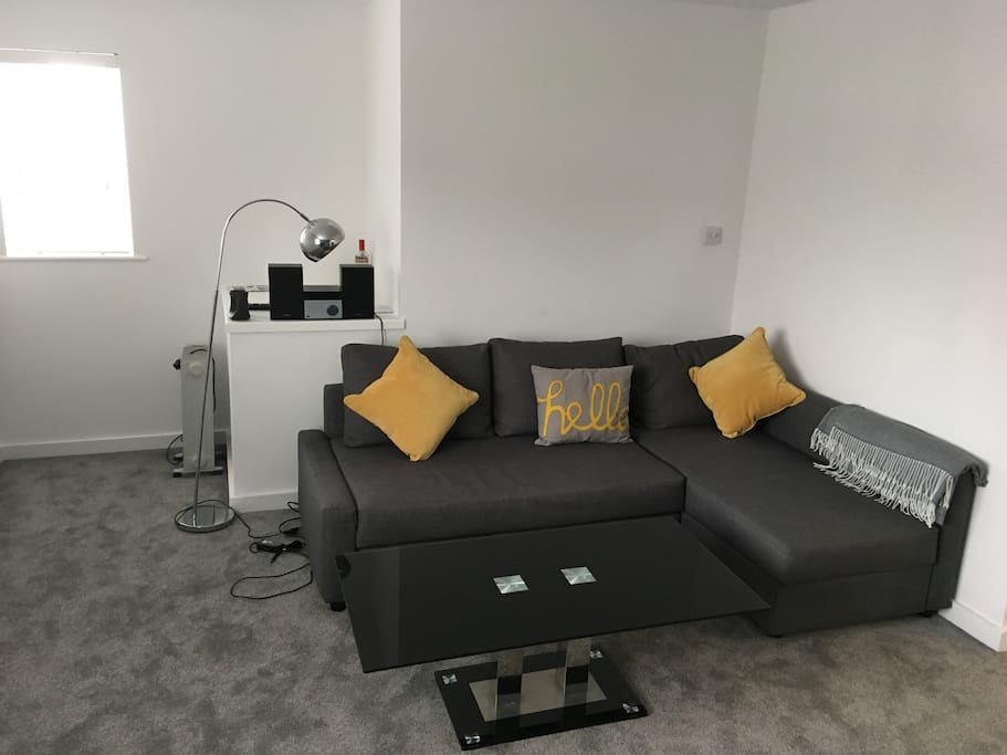 Easy to use sofa bed (double) & digital music system