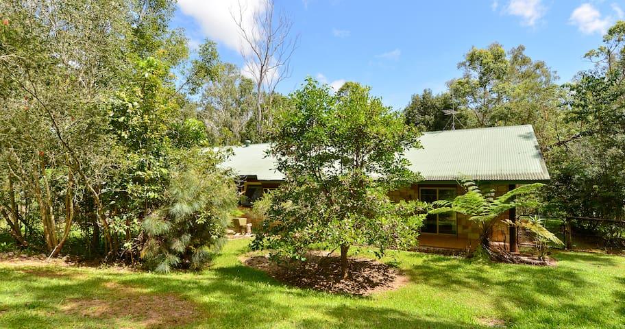 Bushland lodge.