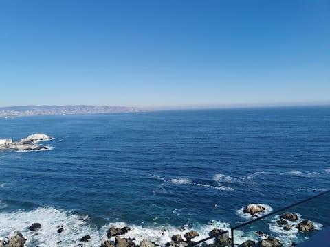 Departamento Reñaca, vista al mar.