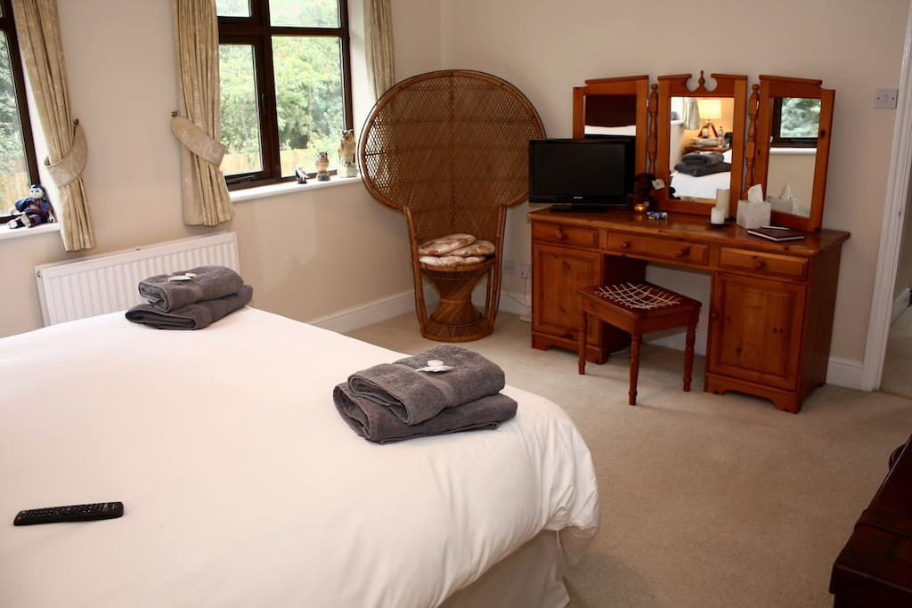 Your View While Getting Some ZZZ's In An Extra Large En-suite Bedroom With Private Bath And Power Shower, Comfy Super King Sized Hypnos Bed With Egyptian Cotton Bedding And Fluffy Towels