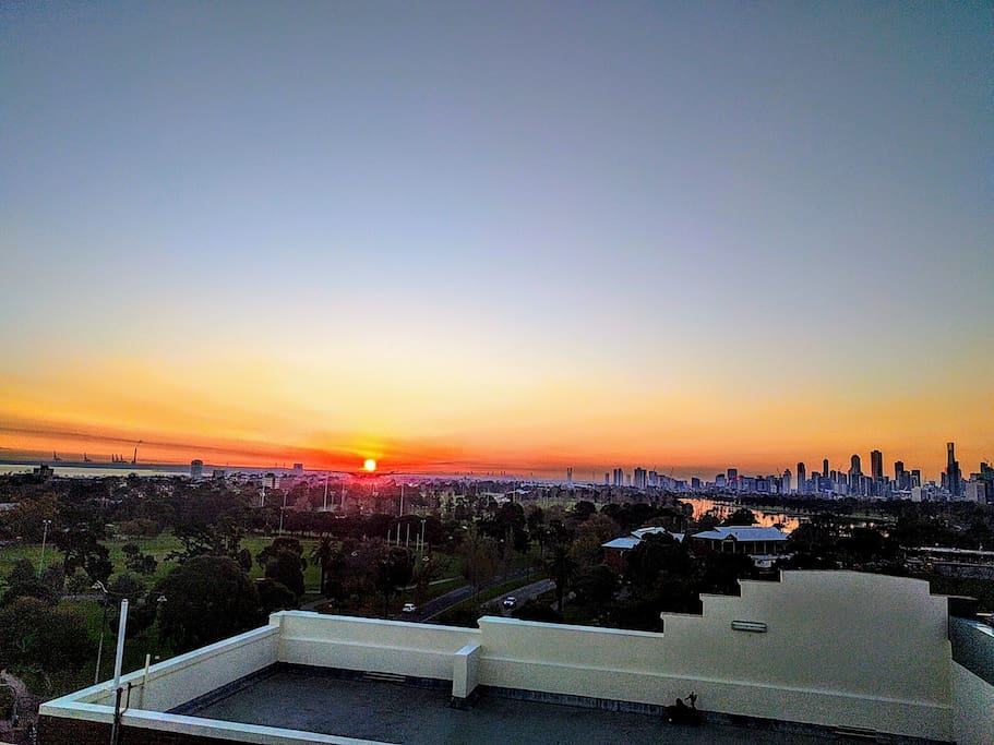 Spectacular sunsets for ending another beautiful day in Melbourne