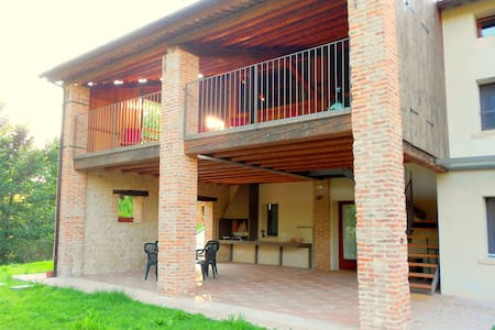 Authentic holiday accommodation on a farm, near Asolo.
