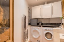 LAUNDRY ROOM.  Washer, dryer & loo.  Laundry supplies provided.