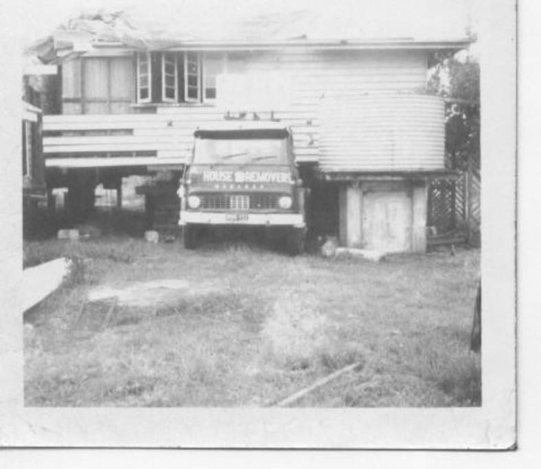 The house being moved from Morayfield QLD in 1972