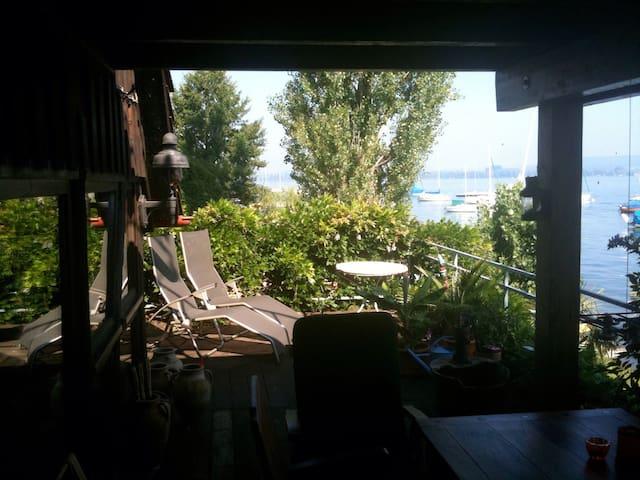 Direkt am See - Bodensee Panoramablick - Ruderboot - Moos - Haus