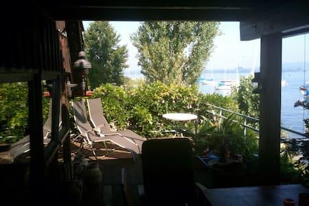 Direkt am See - Bodensee Panoramablick - Ruderboot - Moos - 独立屋