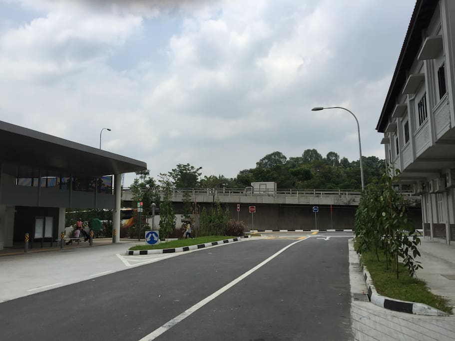 House (on the right) is right opposite to Stevens MRT (on the left).